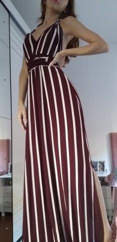Vestido longo de malha novo
