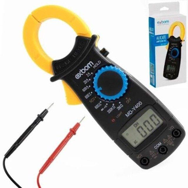 Alicate Amperímetro Exbom Md-y400 Digital Professional Medição