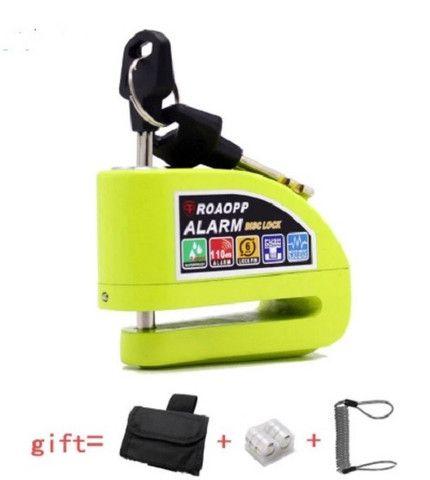 Trava Disco Moto Alarme Sensor Movimento Brinde Bolsa Cabo - Foto 2
