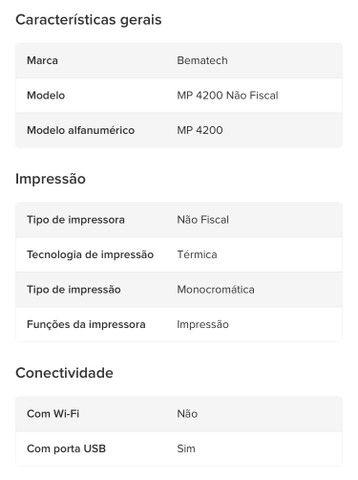 Kit Automação - Impressora Não Fiscal + Leitor Código de Barras - Foto 3