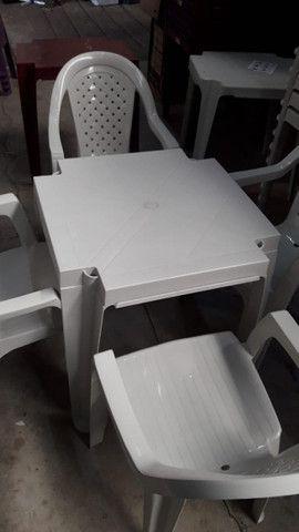 Jogos de Mesas Plásticas Extra Forte Capacidade até 120kg = chama no ZAP - Foto 2