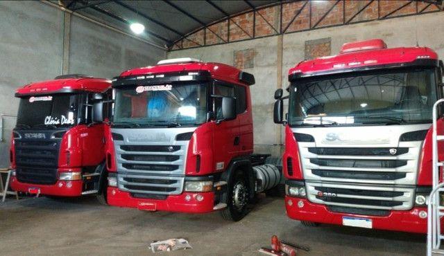 Scania g380 g420 volvo fh440 460 man iveco mercedes carretas - Foto 9