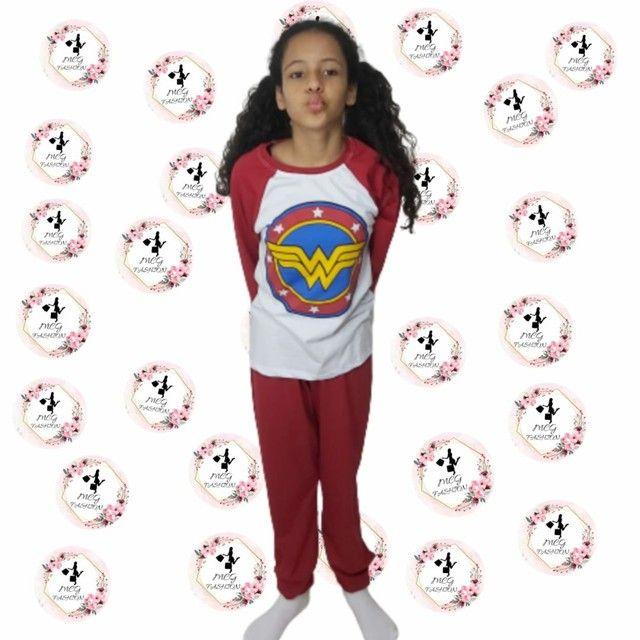 Pijama infantil personagem 02 à 12 anos - Foto 4