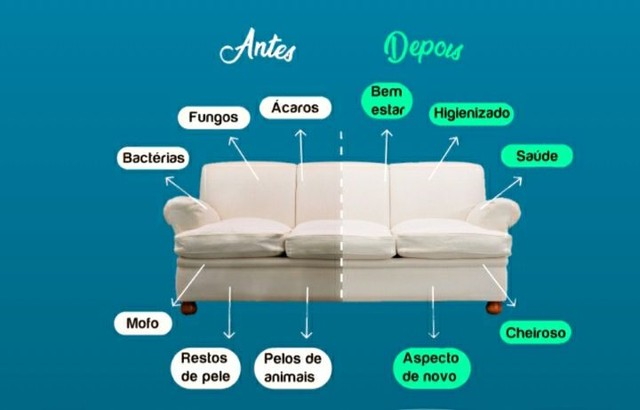Higienização e impermeabilização de sofás / Estofados