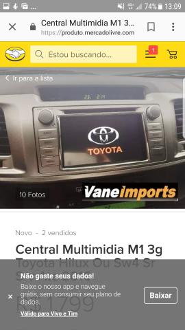 Kit multimídia original da Hilux zeradoooo