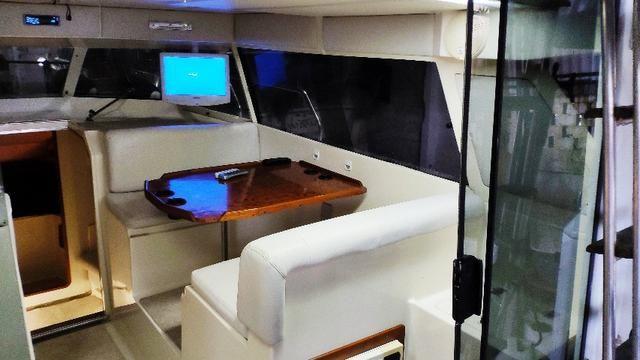 Lancha obra Capri 32 Fly - Barco de represa! Oportunidade única!! - Foto 7