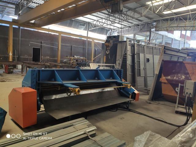 Casal de máquinas para corte e dobra, dobradeira e guilhotina 3 metros para 6 mm - Foto 5