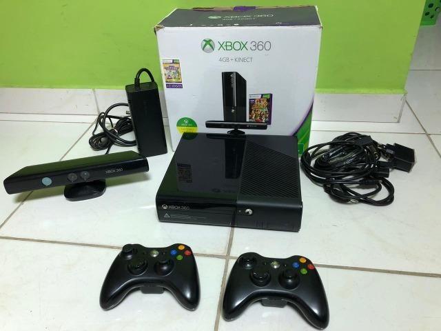 Xbox 360 - 250Gb - Kinect - 2 Controles - 15 Jogos Originais