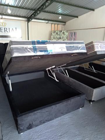 Promoção cama baú novos primeira linha direto da fabrica promoção - Foto 3