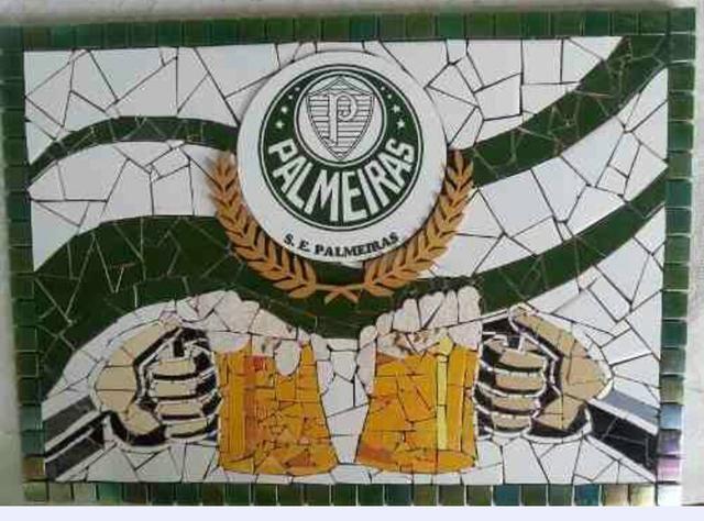 Quadro do Palmeiras em mosaico