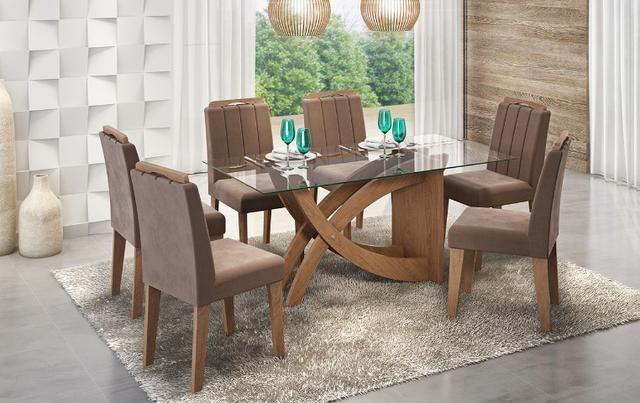 Mesa Flávia e Cadeiras Elisa * Sala de Jantar * Nova
