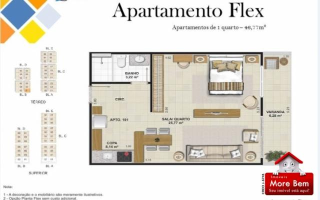 Apartamento 1 Suíte - Portinho - Cabo Frio/RJ Lançamento!!!! - Foto 4