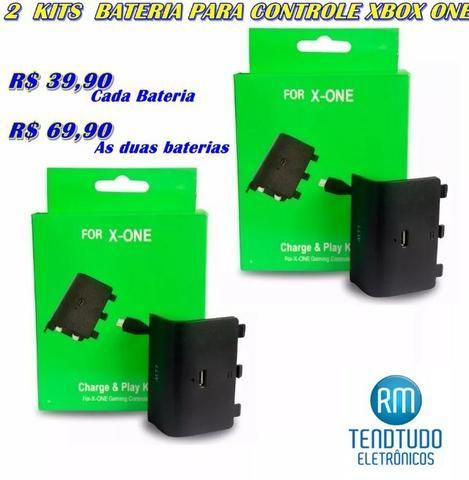 2 kits Baterias Recarregável e Cabo USB Para Controle Xbox One