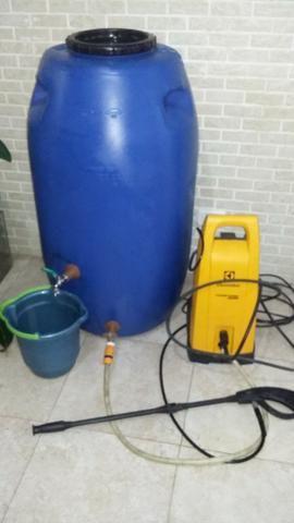 Tambor Cisterna 250 Litros Completa Com Torneira e Registro VAP - (Reservatório/Bombona/Ba - Foto 6