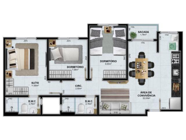 Apartamento de 3 dorm novo px a faculdade Unesc - Foto 10