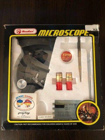 Microscópio Marca Hunter (infantil) - Anos 80 em excelente estado