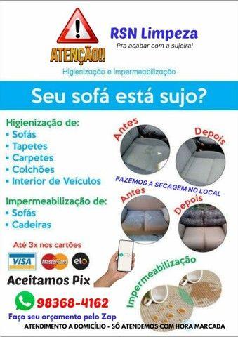 Higienização e impermeabilização de sofás / Estofados - Foto 2