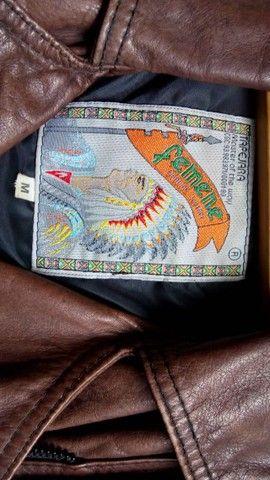 Jaqueta em couro legítimo feminina  - Foto 2
