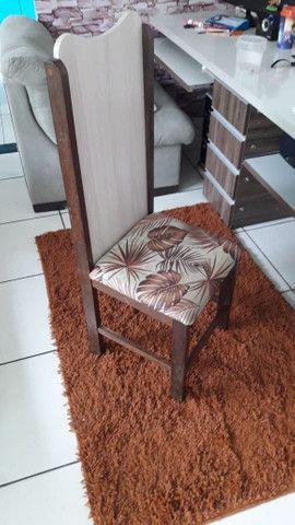 Vende se 6 cadeiras de madeira maciça( sucupira ) - Foto 5