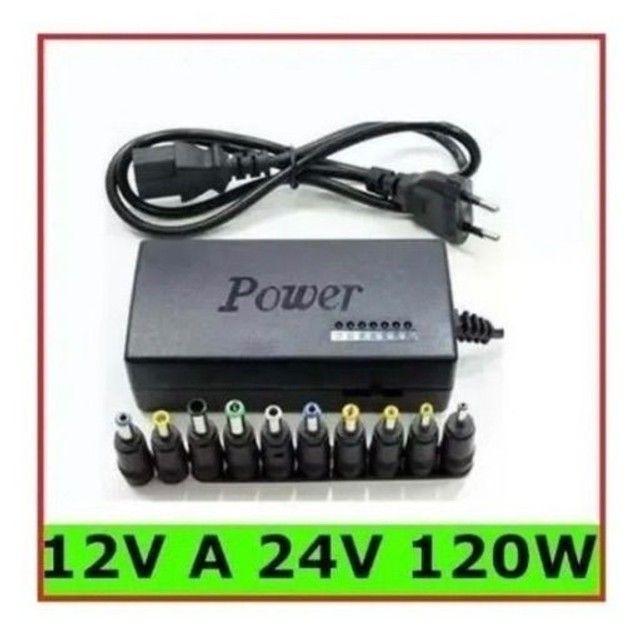 Fonte Carregador Universal Para Notebook 120w com 8 conectores - Foto 6