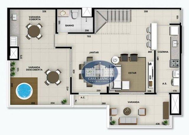 Cobertura Duplex - 3 suítes à venda, 171 m² por R$ 826.200 - Parque das Paineiras - Birigü