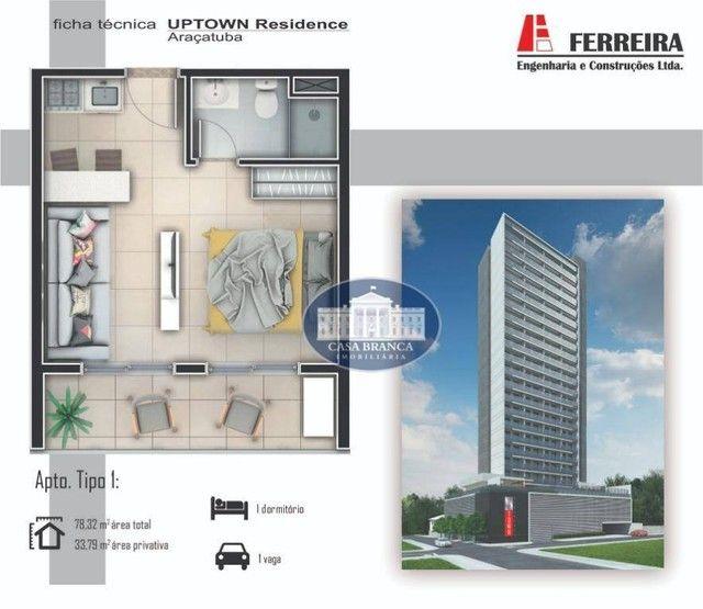 Apartamento com 1 dormitório à venda, 33 m² por R$ 244.500,00 - Jardim Nova Yorque - Araça - Foto 8