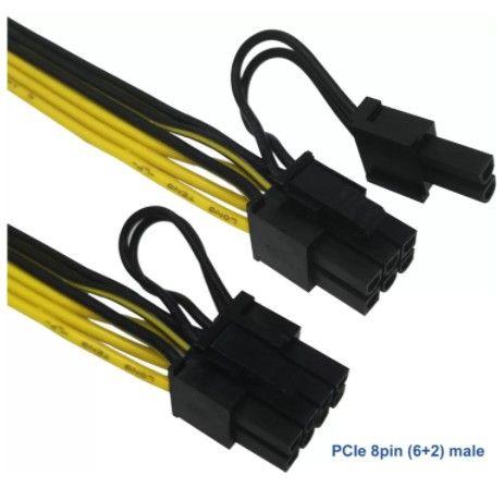 Londrina | Cabo conversor PCIe 8 pinos para duplo 8 pinos (6 + 2) PCIe - Foto 2