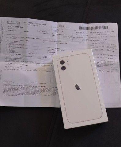 iPhone 11 de 64 GB, Branco, Lacrado, Anatel com nota fiscal.
