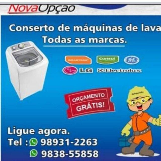 Assistência técnica de máquina de lavar roupas Brastemp Consul Eletrolux visitas grátis