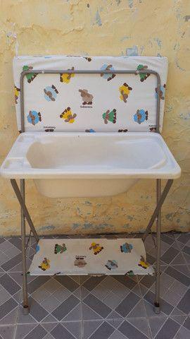 Trocador de fraldas e banheira