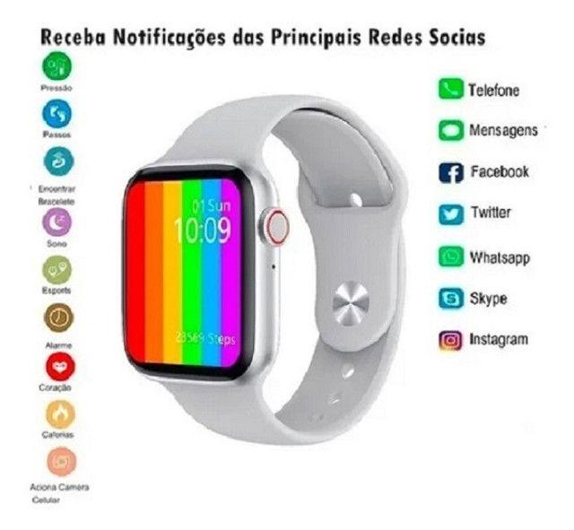 Smartwatch Iwo 12 - Faz Ligações/ Lista Contatos + Brinde Pulseira Aço - Foto 3