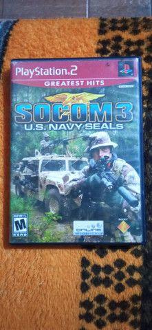 JOGO SOCOM 3 U.S NAVY SEALS PS2 USADO