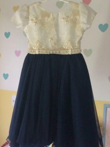 Vestido de festa infantil azul royal
