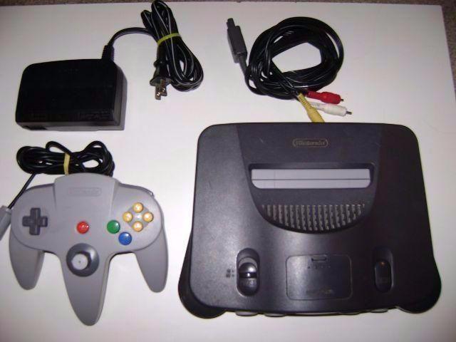 Nintendo 64 com 01 jogo Mario 64 ou 007 Godeneye