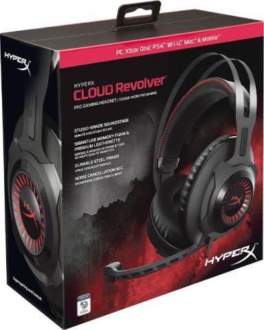 Headset Hyperx Pro Gaming Cloud Revolver Novo hx-hscr-bk/la , parcelo em 12X via ML