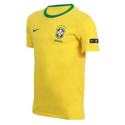 Camiseta Brasil I Selecao 18 amr infantil Algodao tam  p-m-g-gg ... 87655cf9f18dc
