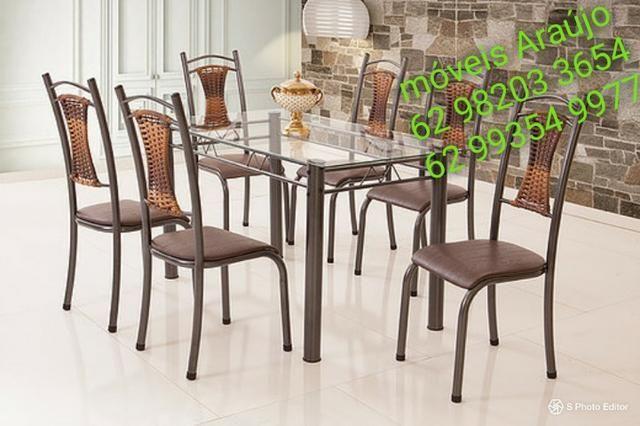 Mesa madmelos 6 cadeiras zap 62 99354-9977