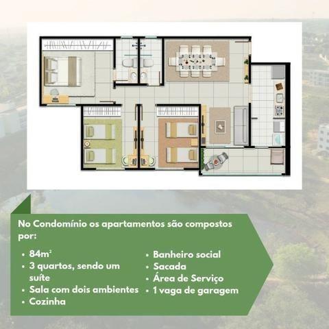 Residencial Lakeside - 84m² - Aceito carro - Foto 5