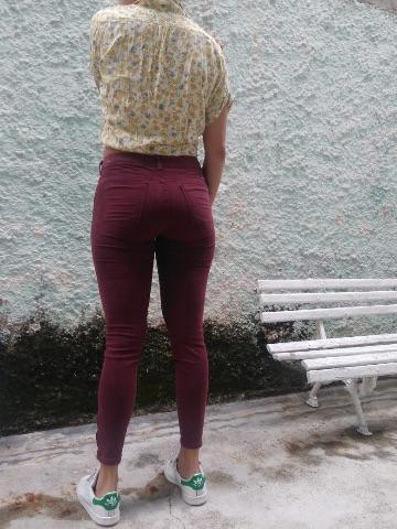 Calça vinho YSC 40 & blusa glamour americastyle M