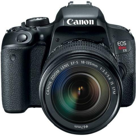 Kit Câmera Canon EOS-Rebel T7I + EF-S 18-135mm - Foto 3