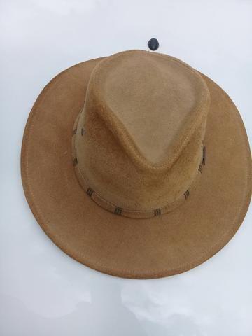 Chapéu Country Couro Nobre Americano Caramelo - Hobbies e coleções ... 5876a1ef35d