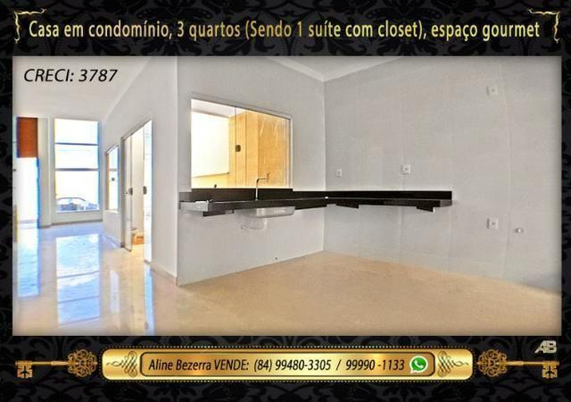 Casa no condomínio central park, suíte com closet, espaço gourmet, sombra confira - Foto 8