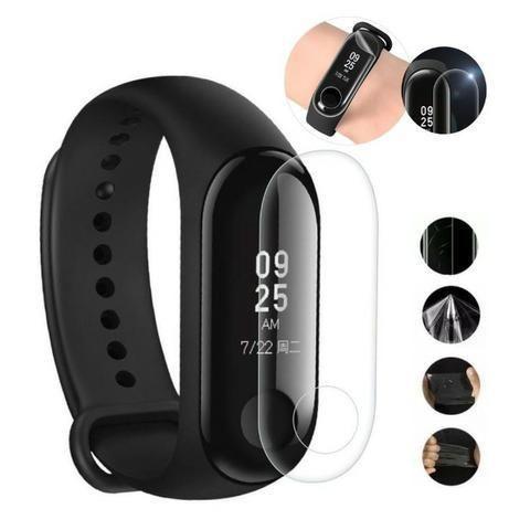 Película de Gel Protetora Relógio Xiaomi Mi Band 3 Mi Band 4 Smartwatch de Facil Aplicação