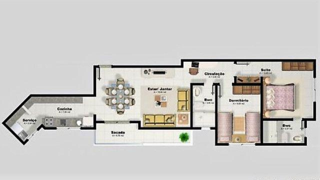 Capoeiras 2 dormitórios com muito espaço , suíte e sacada com garagem - Foto 3