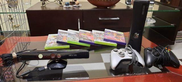 Xbox 360 com 3 jogos,kinect e 2 controles - Foto 2