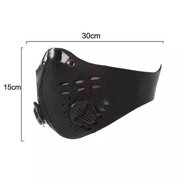 Mascara anti poluição virus com válvula ciclismo bike bicicleta caminhada corrida esportes - Foto 2