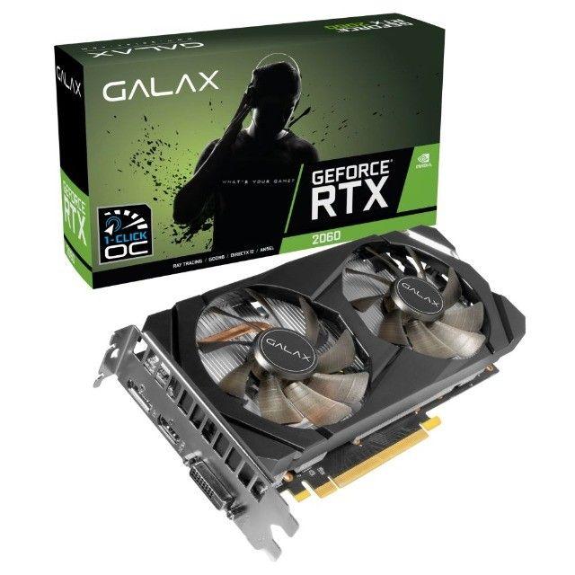 Rtx 2060 Oc 1 Click Galax Geforce Gddr6 (Com garantia - nova, lacrada)