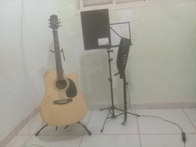 violão giannini gf1d ceq n folk natural - Foto 4