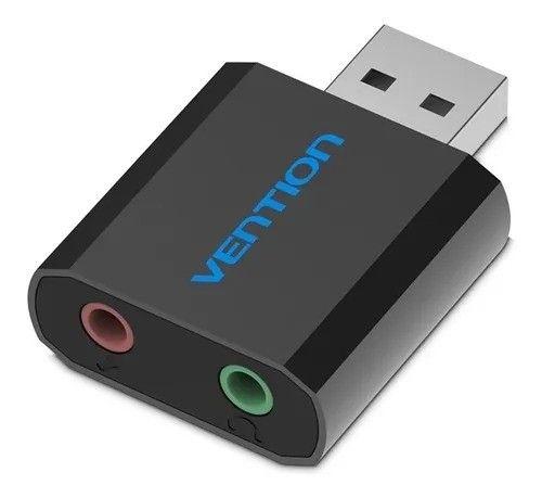 Placa de Som USB Adaptador de Áudio