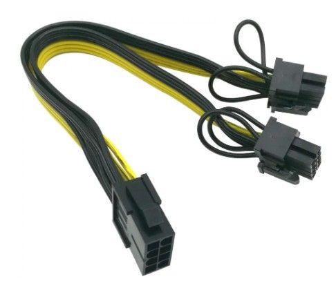 Londrina | Cabo conversor PCIe 8 pinos para duplo 8 pinos (6 + 2) PCIe